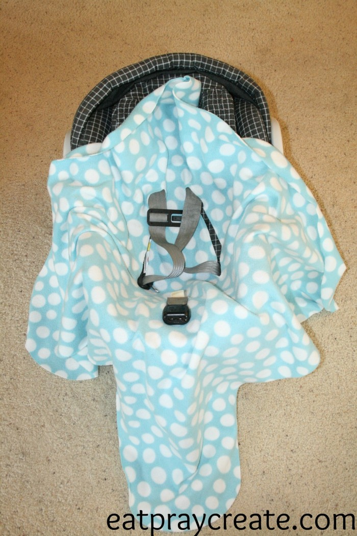 Infant Car Seat Swaddle Blanket Put Blanket in Car Seat