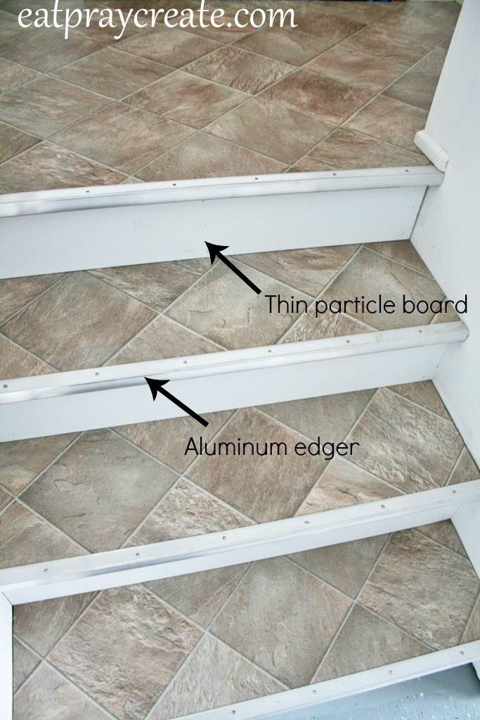 Finishing Garage Stairs Using Vinyl Flooring Eat Pray Create