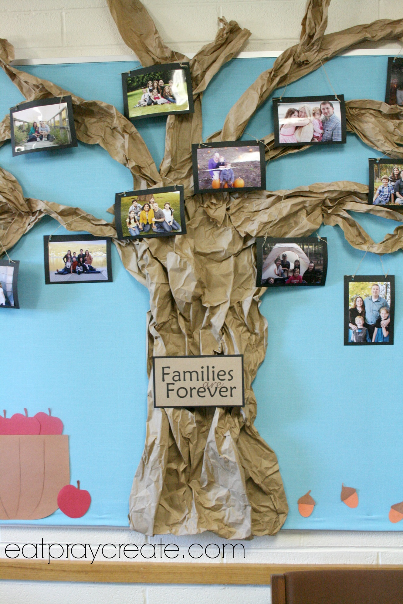 Families are Forever Primary Bulletin Board Idea - Eat Pray Create