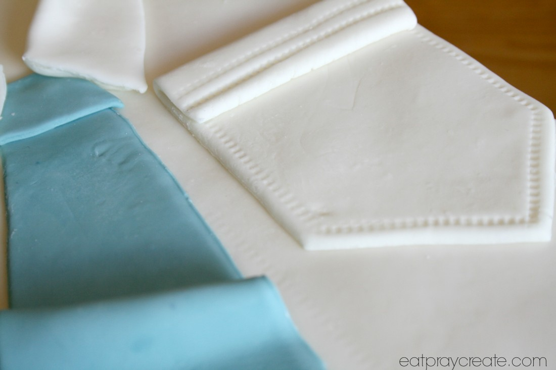 how to make a shirt cake collar