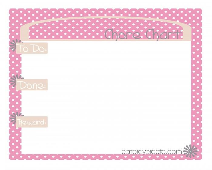 Girl Chore Chart Pink1