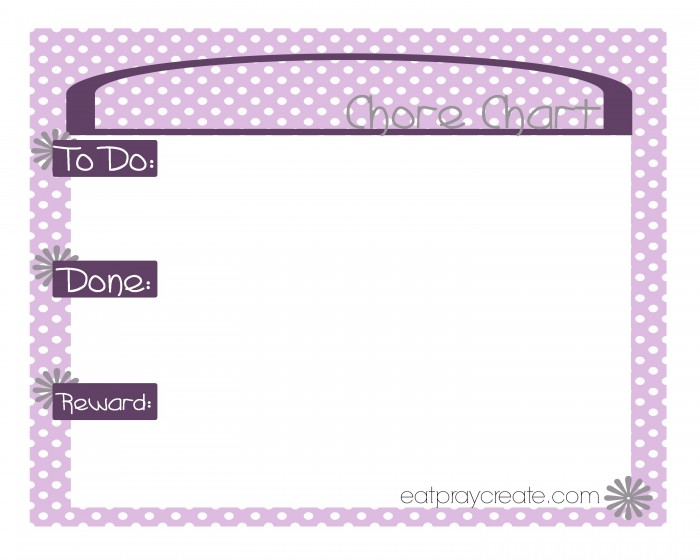 Girl Chore Chart Purple1