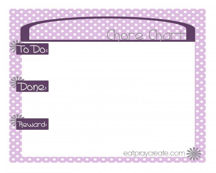 Girl Chore Chart Purple1