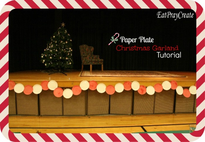 this is a great decoration along the stage at your churchs ward christmas party its cheap and easy too