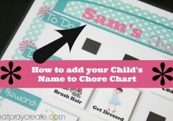 Chore Chart add name