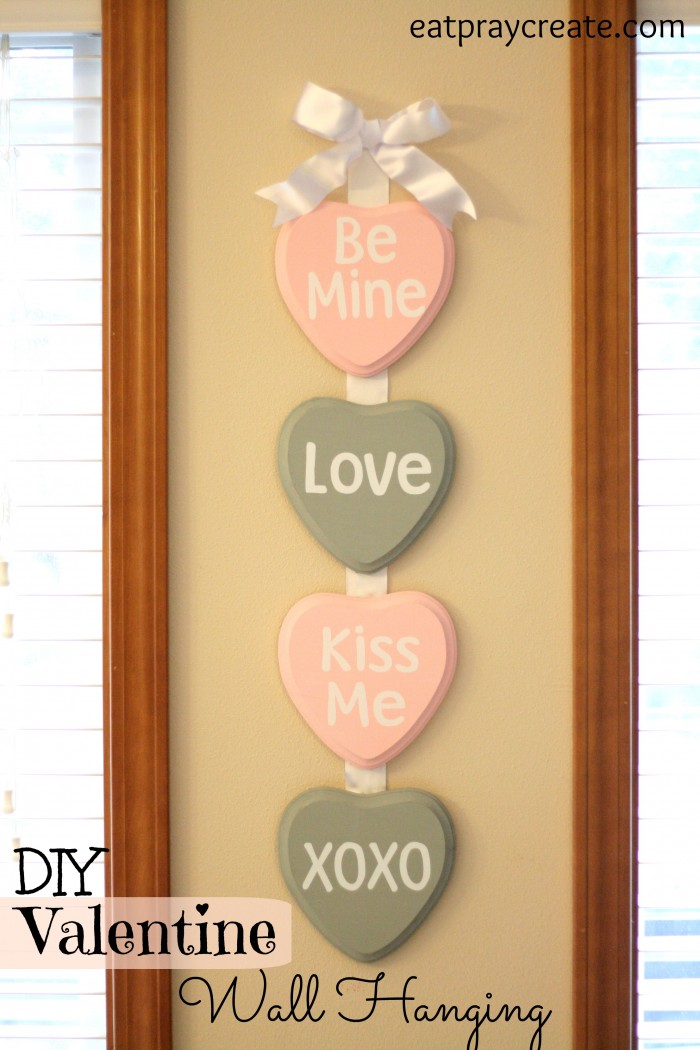 Valentine\'s Day Wall Hanging Tutorial - Eat Pray Create