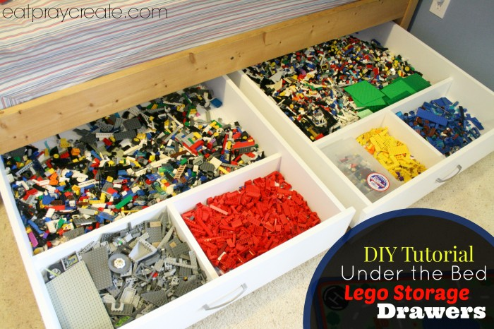 Under the bed rolling lego storage drawers - Lego boite de rangement ...