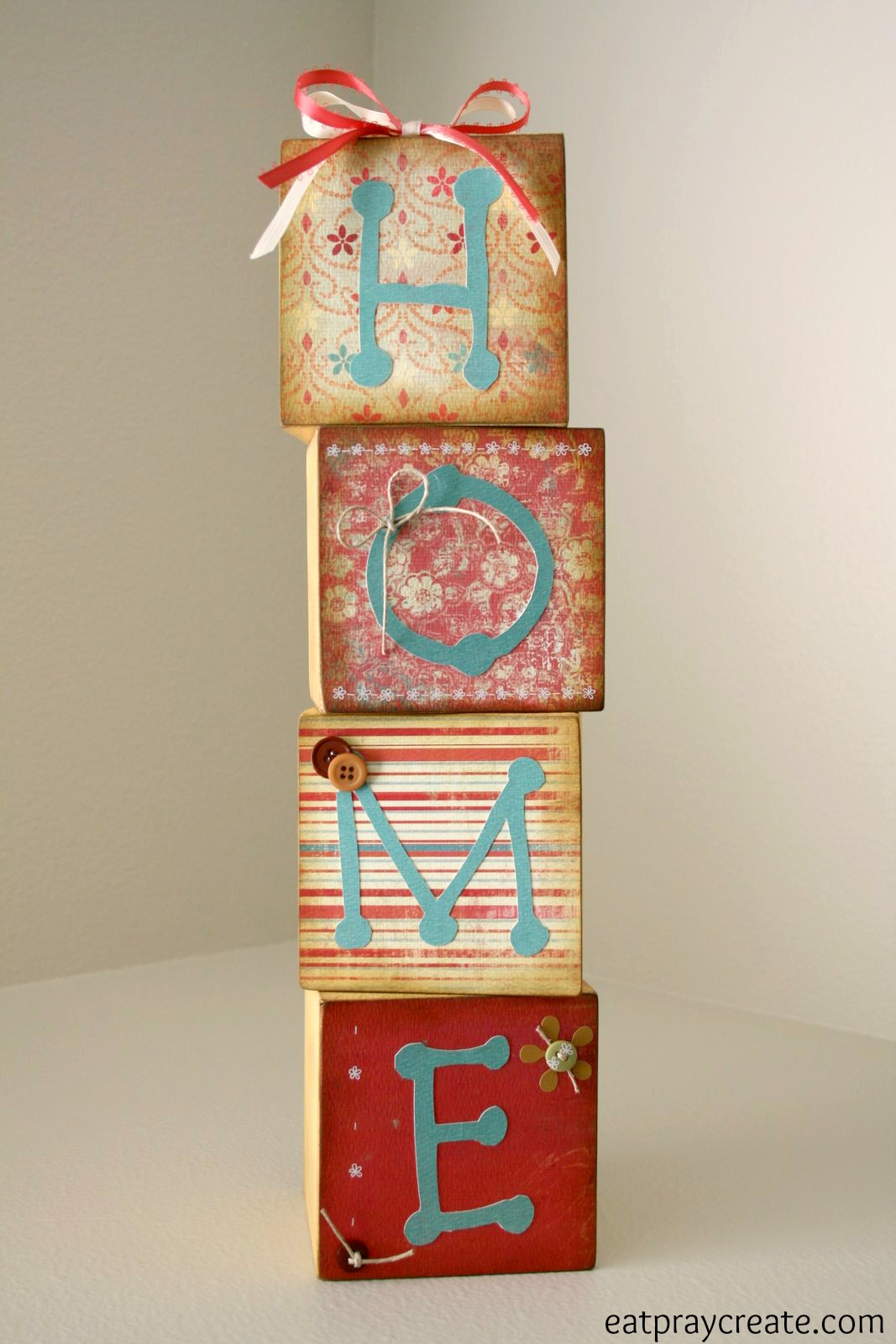 Diy Home Décor Wood Blocks Eat Pray Create