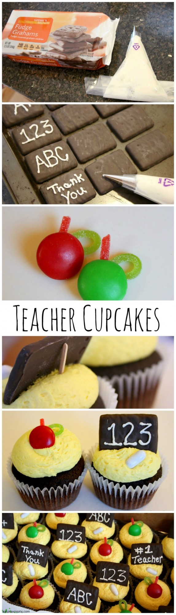 Teacher cupcakes pin