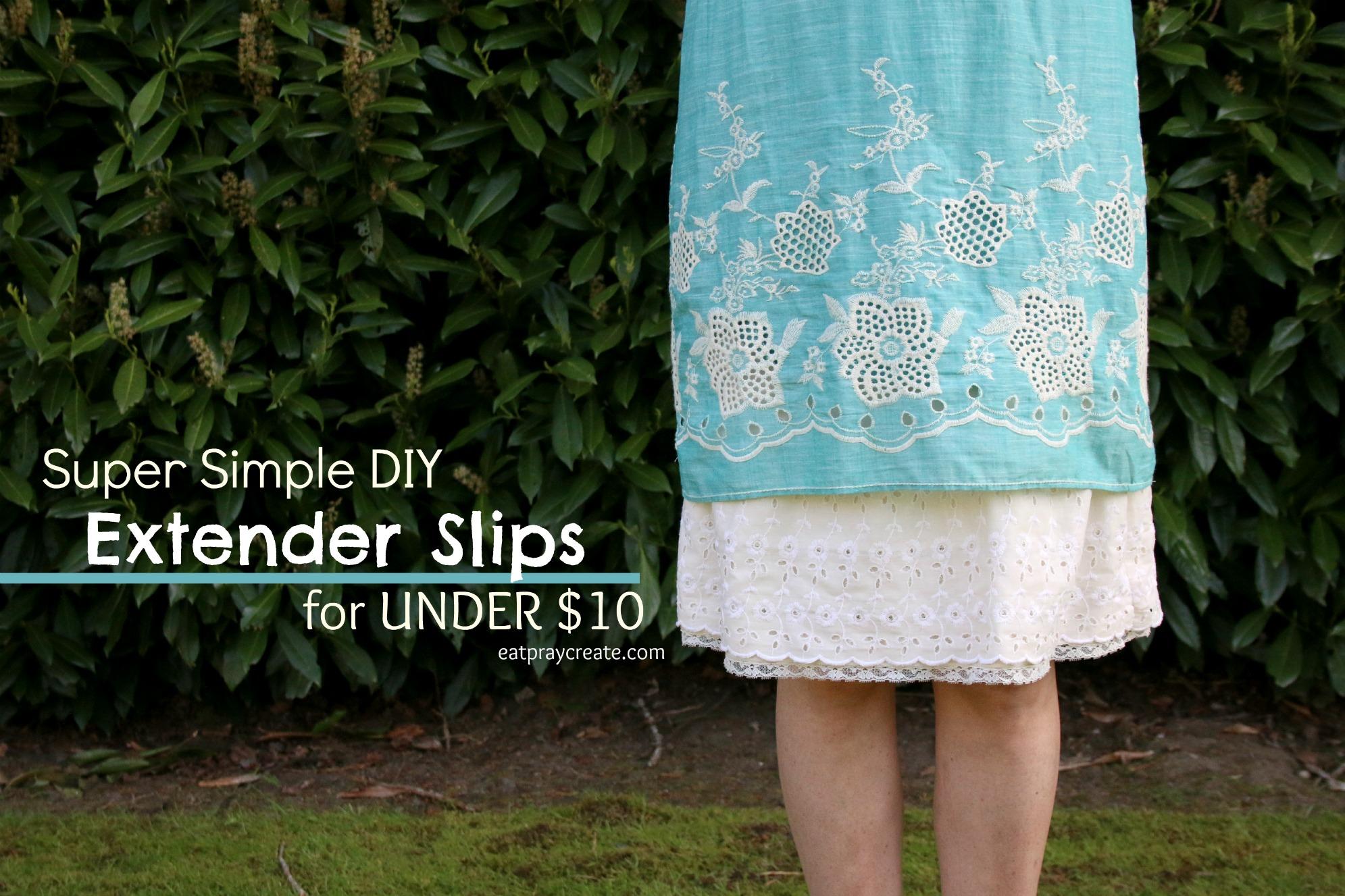 Slips Showing Under Dresses