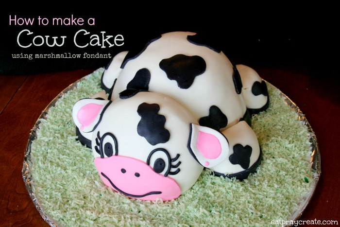 how to make cow cupcakes