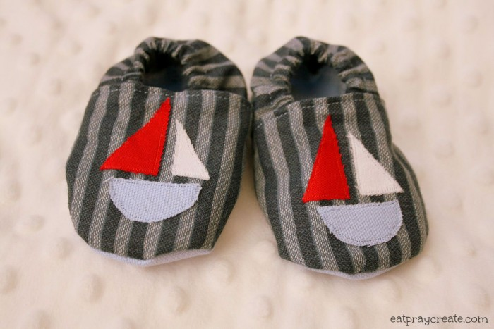 Sailboat Baby Shoes