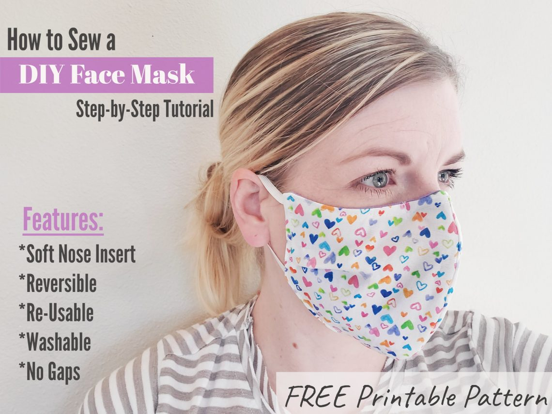 DIY Face Mask Tutorial and Pattern - Eat Pray Create