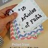 Pocket Sized Articles of Faith Cards
